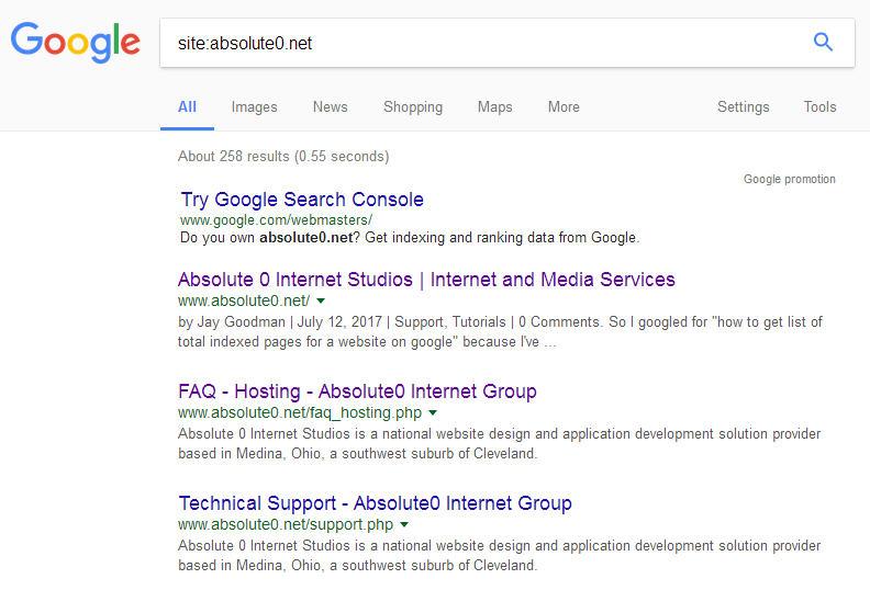 Workaround: Get a list of indexed URLs from google
