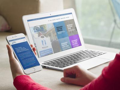 New Lazor Insurance Website Redesign